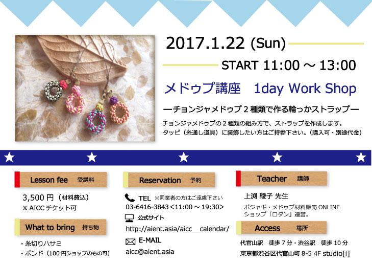 2017/1/22(日) 1day メドゥプ講座